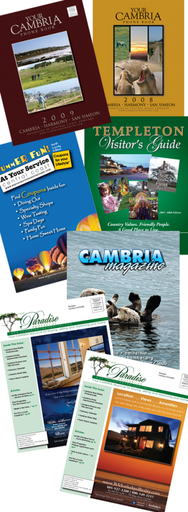 catalogs, magazines, booklets and books - central coast adworks located in paso robles california can design and print anything you can imagine