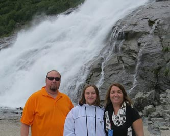 Tom & Janet Marcotte and their daughter, Gabrielle in beautiful Alaska!